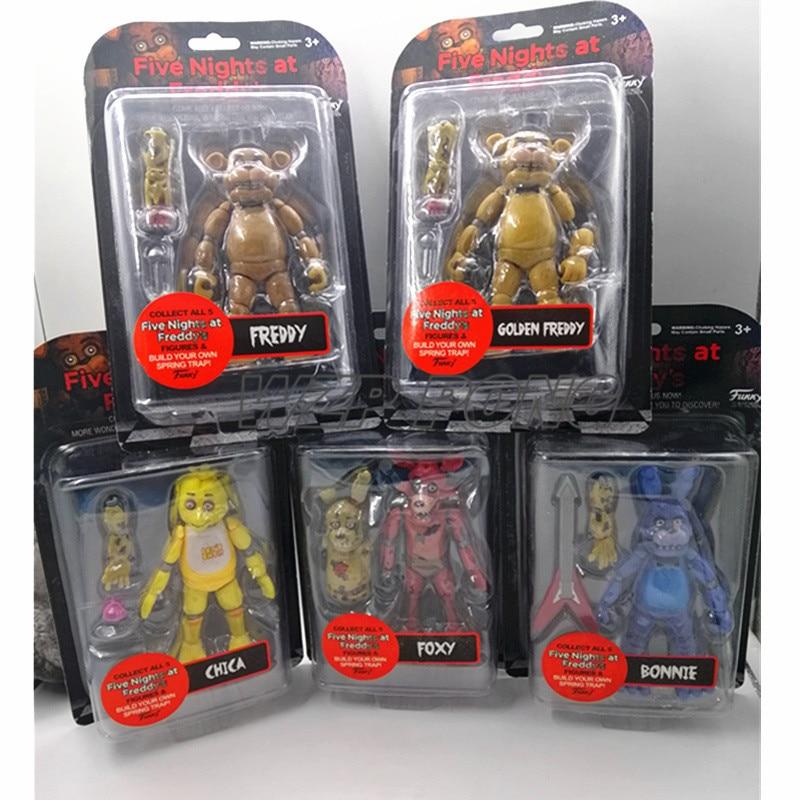 Экшн-Фигурка «пять ночей у Фредди», подвижные шарнирные игрушки FNAF, кукла Фредди Чика, игрушка для детей, подарок на день рождения, 5 шт./компл...