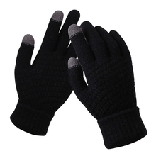 Touch Screen Gloves Warm Gloves Ski Gloves Plush Gloves Cycling Equipment Women #8217 s Cashmere Knitted Gloves Jacquard cheap CN(Origin) Cotton Full Finger Universal Washable