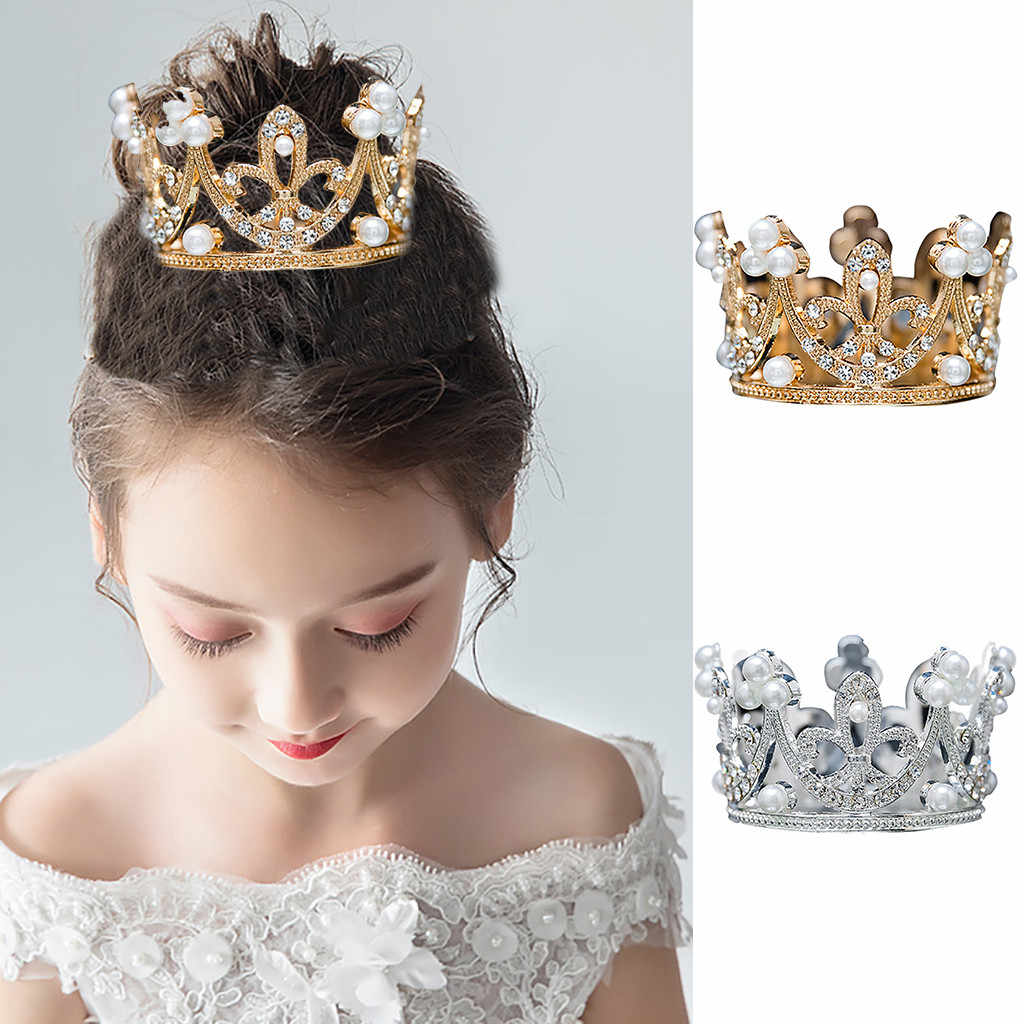 Princess Crystal Tiaras and Crowns Headband Kid Girls Love Bridal Prom Crown Wedding Party Accessiories Hair Jewelry Children