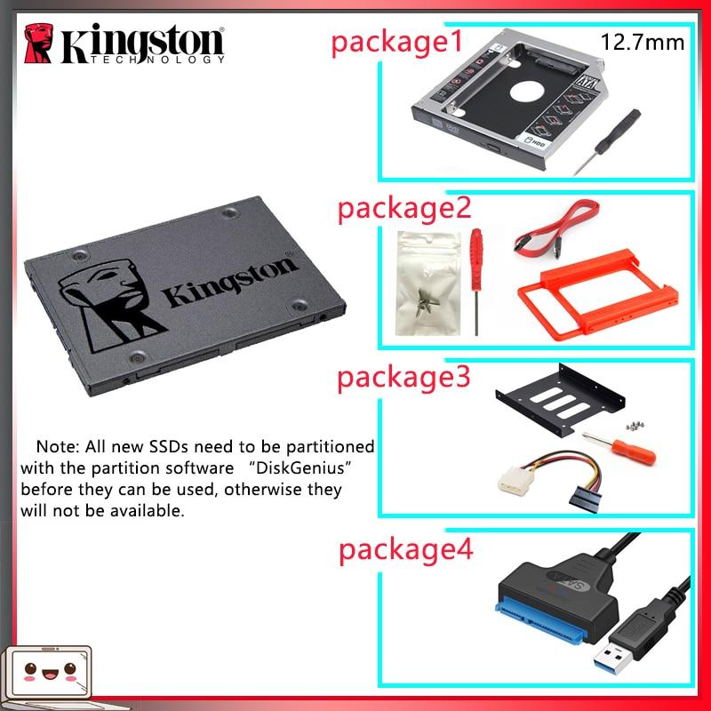 SSD-накопитель Kingston на 120 ГБ, 2,5 дюйма, с адаптером