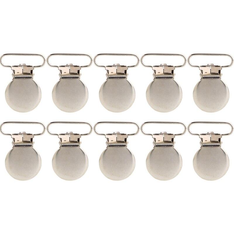 10 pièces bébé infantile Clips en métal porte-sucette forme alliage jarretelle crochet