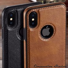สำหรับ iPhone 11 11 Pro 11 PRO MAX Luxury VINTAGE PU หนังกลับบางสำหรับ iPhone XS MAX XR X 8 7 6 6S PLUS Case(China)
