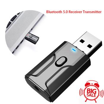 Bluetooth 5 0 Stereo Audio 2w1 odbiornik nadajnik Mini Bluetooth AUX RCA USB 3 5mm Jack do telewizora PC A2 zestaw samochodowy Adapter bezprzewodowy tanie i dobre opinie centechia CN (pochodzenie) Brak Podwójne 2 4G + 5G dropshipping wholesale 12*1 7*6 6cm DC 5V Wireless Audio Adapter