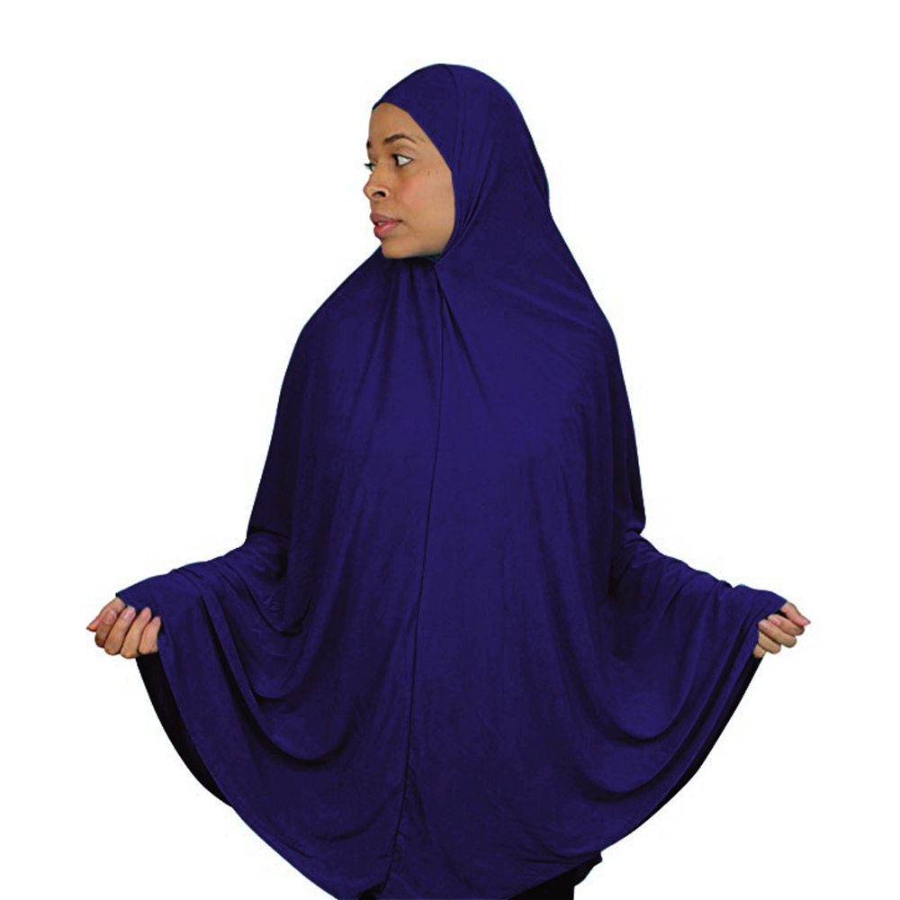 Muslim Large Hijab Scarf Khimar Islamic Jilbab Prayer Clothes Arab Niqab Burqa Ramadan Overhead One Piece Amira Middle East