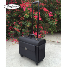 BeaSumore high quality Oxford captain Rolling Luggage Spinner Multifunction 18 Inch Laptop bag Men Women pilot Suitcase Wheels