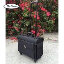 BeaSumore roues de valise pilote Oxford, de haute qualité, multifonctions, pour hommes et femmes, pochette dordinateur