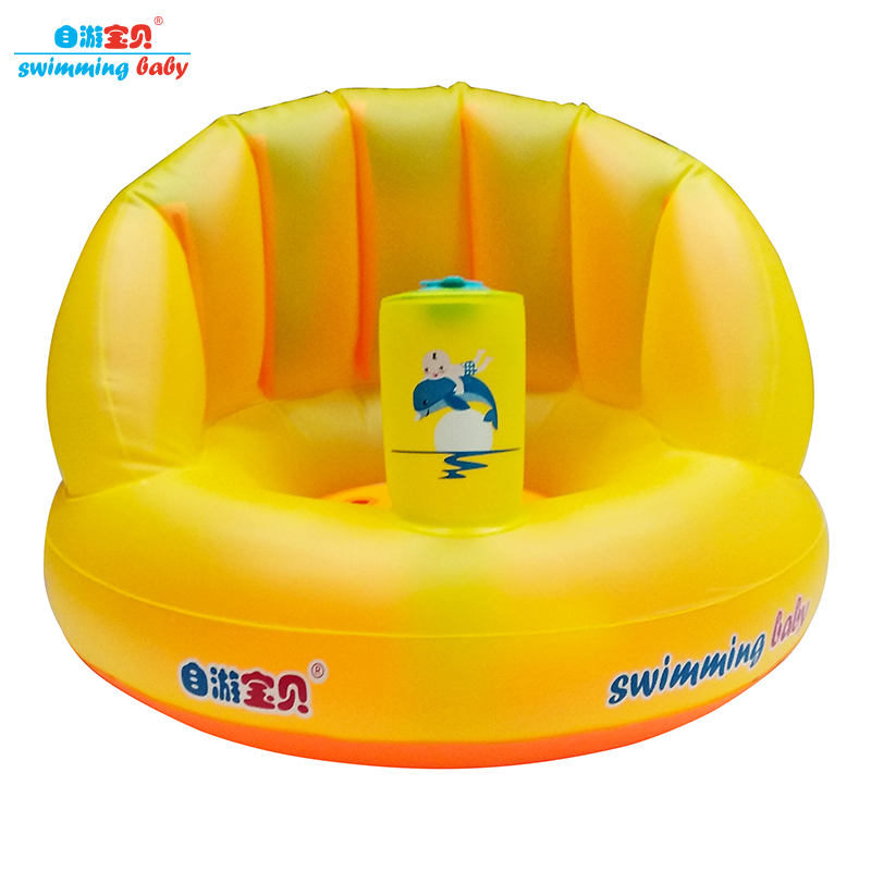 Genuine Swimming Baby Shower Portable Inflatable Chair Baby Infant Baby Bath Seat Non-Slip Safety Security Bath Seat Support