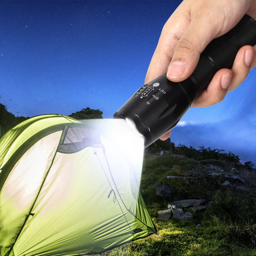 Multicolor Flashlight RGB+W 4 Color In 1 LED Flashlight Telescopic Zoomable Torch Waterproof For Outdoor Camping Light