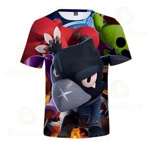 Image 4 - 2 ila 13 yıl çocuklar T shirt çekim oyunu çocuklar erkek kız kısa kollu tshirt T Shirt Streetwear karikatür çocuk t shirt