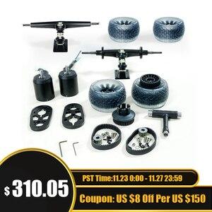 Hot Sale Group T3 DIY Electric Skateboard Double Kingpin Trucks and Motor Kits (Dual Drive) including Cloud wheel