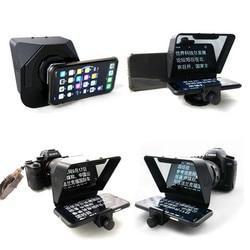 2020 Nieuwe Draagbare Snellere Smartphone Teleprompter Voor Telefoon En Camera Voor Nieuws Live Interview Speech Met Afstandsbediening