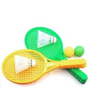 2 ensemble Tennis de plage enfants double raquette de Tennis jeu de balles Sports de plein air Mini raquette de Badminton pour enfants plage support YJN