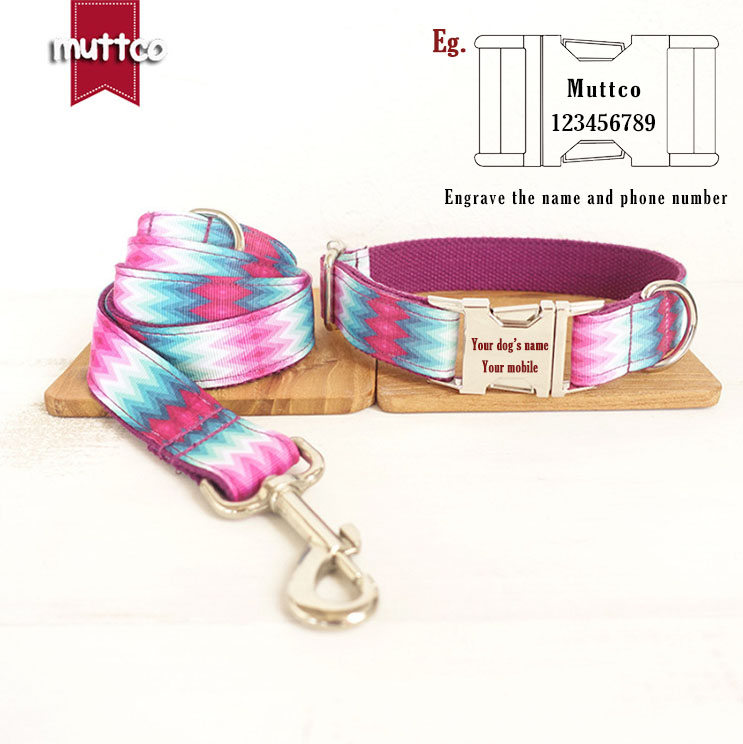 Purple Peacock Colorful Cute Cotton Leash Material Soft Fashion Comfort Pet Dog Leash Collar Set Pets Supplies Dogs Accessory in Sets from Home Garden