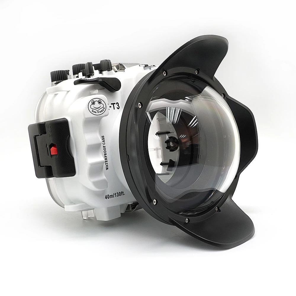 130ft/40m Waterproof box Underwater Housing Camera Diving <font><b>Case</b></font> for <font><b>Fujifilm</b></font> <font><b>X</b></font>-<font><b>T3</b></font> Fuji XT3 FP.1 Camera Bag <font><b>Case</b></font> Cover image