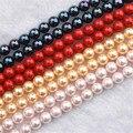 Круглые жемчужные бусины AA +, круглые бусины из натурального жемчуга для изготовления ювелирных украшений, ожерелий, браслетов Diy, 4-12 мм, опт...
