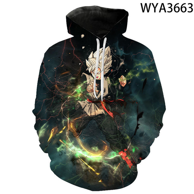 Men Women Children Fashion Hoodies Comics Goku 3D Printed Sweatshirts Pullover Long Sleeve Boy Girl Kids Streetwear Coat 2