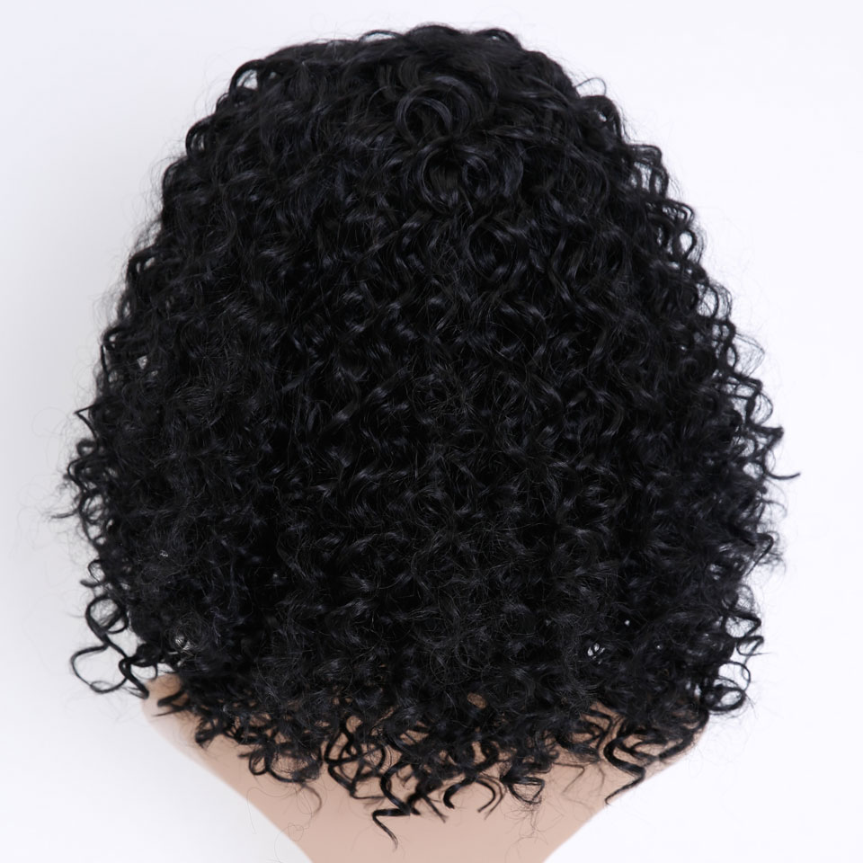 MSTN Short Afro Kinky Curly Wigs for Women Wigs Synthetic Heat Resistant Hair Fluffy African American Natural Black Hair
