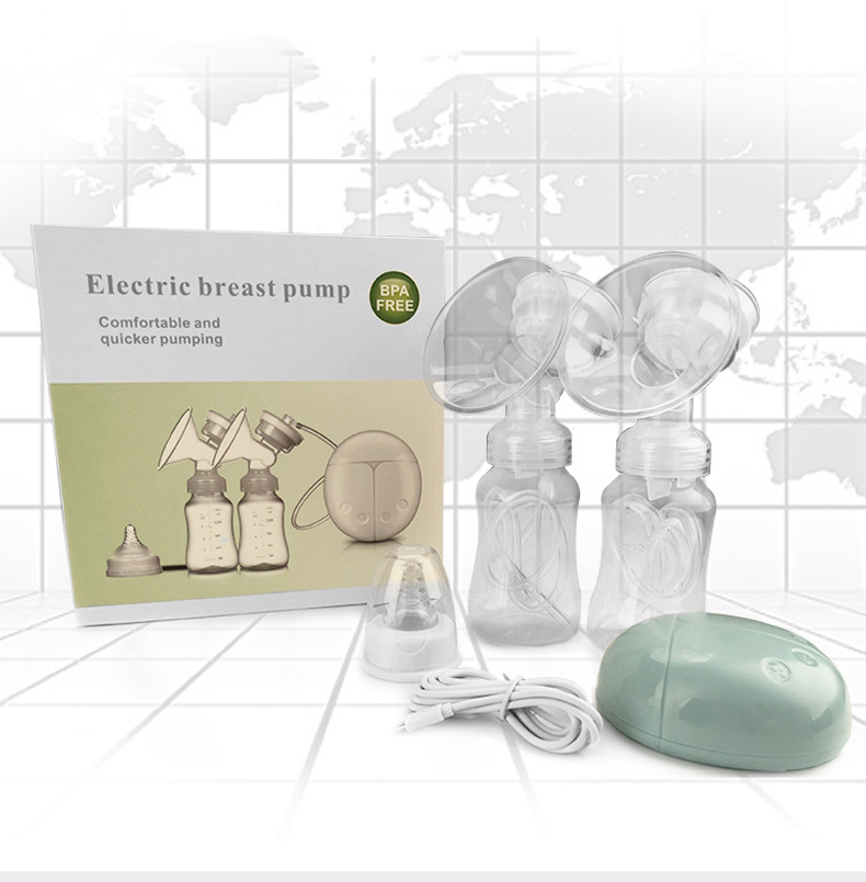 Double Bilateral Electric Breast Pump Milker Suction Large Automatic Massage Postpartum Milk Maker Bebes Accesorios