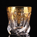 Palace style crystal glass with gold line beer mug home tea cup juice large whiskey foreign wine glass
