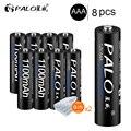 Аккумуляторная батарея PALO  8 шт.  1100 мАч  1 2 В  Ni-MH  AAA  3 А  аккумуляторная батарея для камеры  игрушек