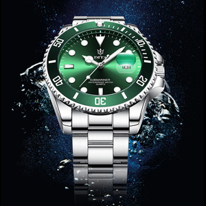 Quartz Watch Men DITAWATCH Top Brand Luxury 2020 Green Waterproof Watches Mens Sports Date Wristwatches Black Relogio Masculino(China)
