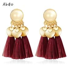 New Bohemian Ethnic Tassel Drop Earrings Summer Beach Women Fashion Handmade Brincos Fringe Earring Jewelry Gift