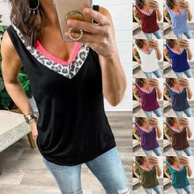 Women's Summer Loose Women Jumpers Sleeveless Casual Pullovers Female V-Neck Solid Color Sexy tank top S-5