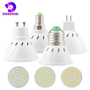 E27 E14 MR16 GU10 Lampada doprowadziły żarówki 220V Bombillas oświetlenie punktowe lampa LED 48 60 80 LED 2835 SMD lampora światło punktowe tanie i dobre opinie Duncelri Ciepły biały (2700-3500 k) SALON 250 - 499 lumenów Spiralny 50000 Other Żarówka punktowa Epistar ROHS 360°