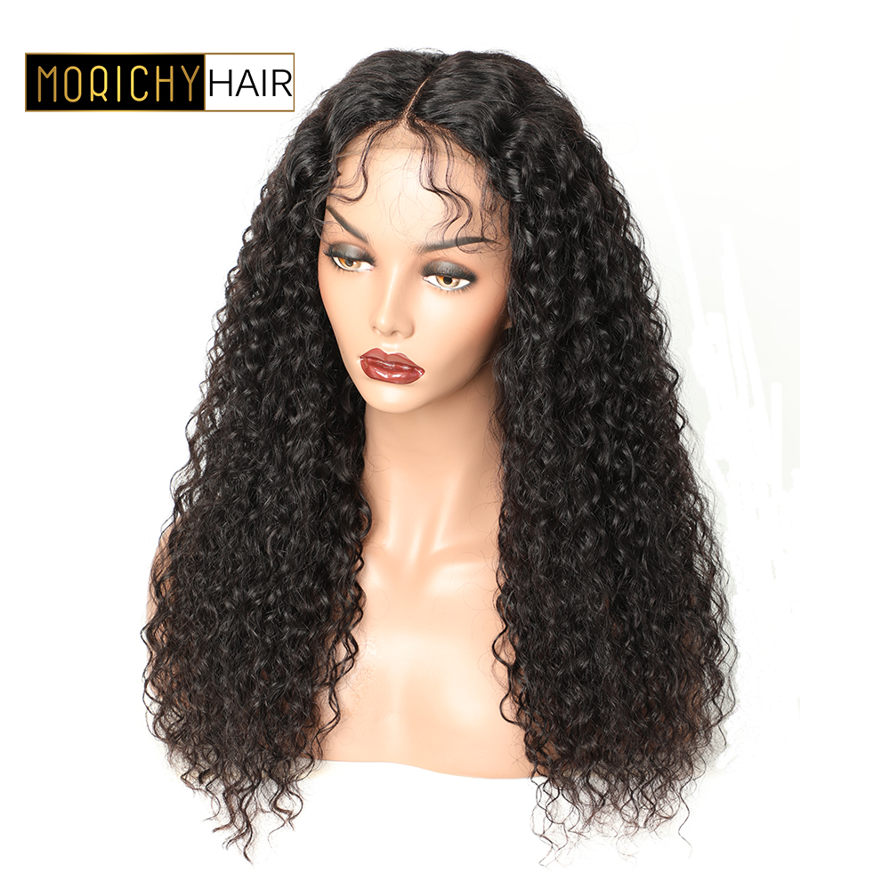 Curly Human Hair Wig Closure Wigs For Black Women Lace Closure Wig Non Remy 150% Density Peruvian 4x4 Closure Wig