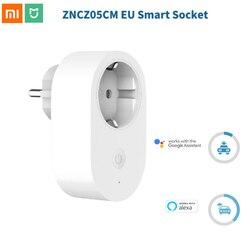 Xiaomi Mijia ue inteligentne gniazdo współpracuje z asystent google Alexa pilot wyłącznik czasowy inteligentna pamięć oszczędzanie energii|Inteligentny pilot zdalnego sterowania|   -