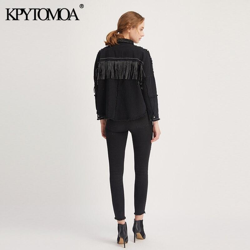 Hbe09806fb4ec4c5aa7f8829da5c7db5a9 Vintage Stylish Fringe Beaded Oversized Jacket Coat Women 2019 Fashion Long Sleeve Frayed Trim Ladies Outerwear Chaqueta Mujer