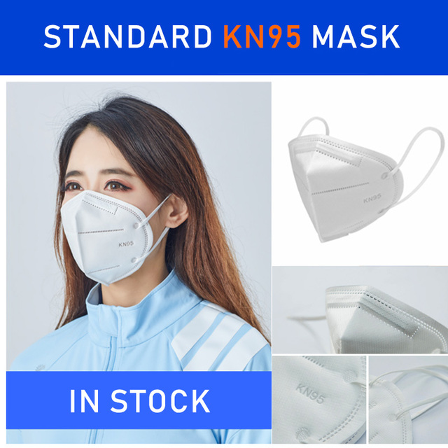 KN95 Face Mask Disposable Laye Mask Meltblown Cloth Masks Mascarilla Prevent Flu ffp3 masque Mouth Breathing Mask 95% Filtration 1