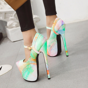 Sarairis Wholesale Best Plus Size 50 Fetish Heels Extreme High Platform Party Wedding Nightclub women's Shoes Woman Pumps