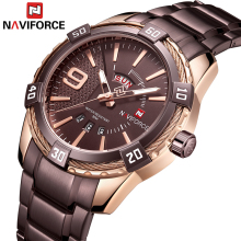 NAVIFORCE Mens Quartz Analog Watch Luxury Fashion Sport Wris