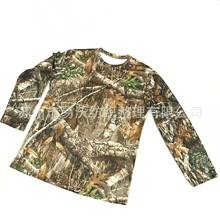Outdoor sport bionic jagd camouflage schnell trocknend stretch T-shirt(China)