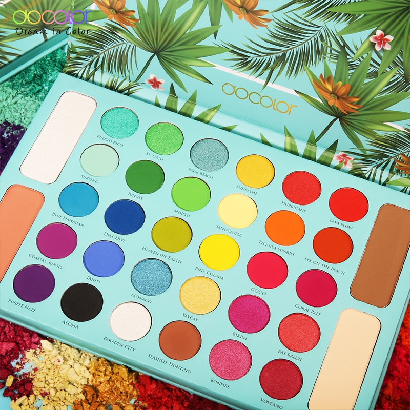 Docolor 34 Color Matte Shimmer Eyeshadow  Palette Waterproof Smudge-proof Eye Shadow Powder