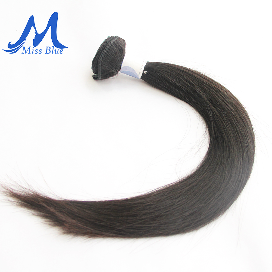 Missblue Peruvian Hair Weave Bundles Straight 100% Human Hair 34 36 38 40 Inch 3/4 Bundles Natural Color Remy Hair Extensions 3