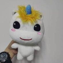 Peluche de unicornio de 20cm para niños, muñeco de felpa de 20cm, regalo de cumpleaños