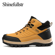 Men Waterproof Hiking Shoes Outdoor Mens Trekking Boots Anti-slippery Mountain C