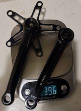 超軽量クランクセット396グラム黒または光沢のあるシルバー用ブロンプトンバイク130ミリメートル