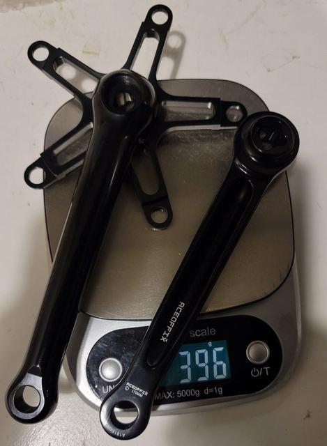 Superlight crankset 396g black or shiny silver for road brompton bike 130mm