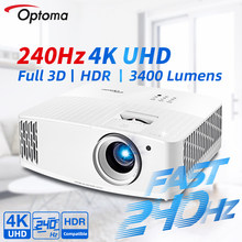 Optoma 4K Projector Native 3840×2160 UHD 240Hz Refresh Rate for Gaming Smart Phone 3D HDR Beamer Cinema For Home Theater UHD506