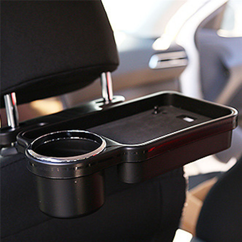 Car Auto Rear Back Seat Table Drink Food Cup Tray Holder Desk Stand Mount Car Seat Back Meal Tray Foldable Desk Table Stand