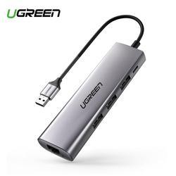 Ugreen USB Ethernet адаптер USB 3,0 к RJ45 3,0 концентратор для MacBook Air Ethernet адаптер Сетевая карта USB Lan