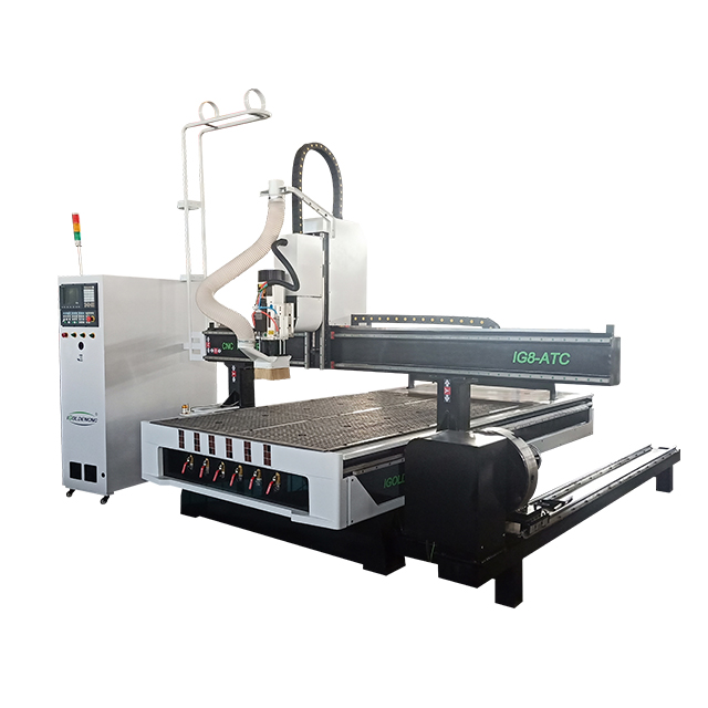 1325 Atc Cnc Router 4 Axis Auto Tool Change Cnc Router Wood Engraving Machine With Rotary Device