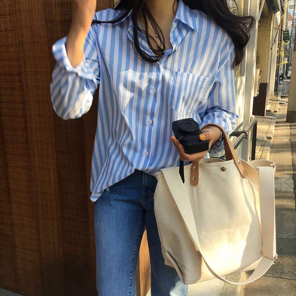 2019 Canvas Bag Reusable Shopping Bags Large Handbags Tote Cotton Daily Use Women Girls Book Shoulder Bags