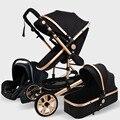 Carrinho de Bebê De luxo Alta Landview 3 em 1 Carrinho de Bebê Carrinho de Bebê Carrinho de Bebê Portátil Bebê Conforto para Recém-nascidos