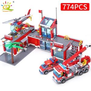 Image 2 - Детский конструктор «пожарный», 774 блоков