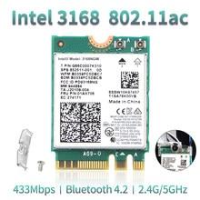 Wlan inalámbrico de doble banda para Intel 3168 AC 3168NGW NGFF M.2 802.11ac, Wifi, Bluetooth 4,2, tarjeta, adaptador de red Wifi 2,4G/5Ghz