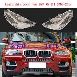 غطاء المصباح مصباح كشافات قذيفة سيارة الجبهة عاكس الضوء زجاج عدسة كشافات غطاء لسيارات BMW X6 E71 2008-2014